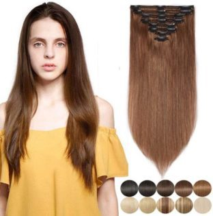 S-Noilite Clip In Human Hair Extensions